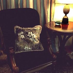 Sessel Vintage Samt Victorian