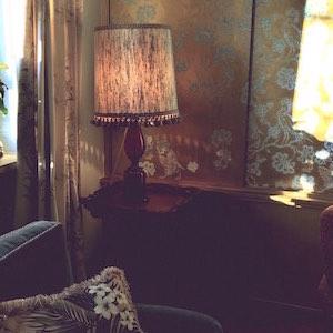 Lampe Glas rot Murano Vintage