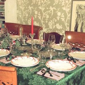 Weihnachten Tisch geschmückt Deko