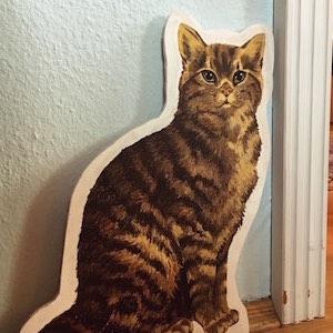 Cutout Katze bemalt Holz