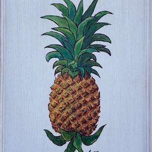 Schranktür bemalt Ananas
