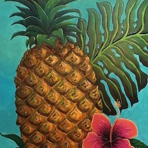 Bild Ananas Hibiscus