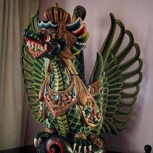 Drache Figur Holz Bali