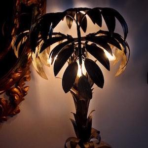 Lampe Palme Metal