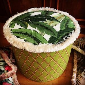Maßanfertigung Pouf Frilly Tropical