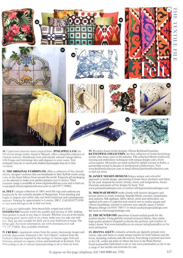 Presse World Of Interiors August Ausgabe Artikel
