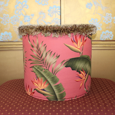 Pouf Bird of Paradise Coral Seite Strilizien Baumwolle 44x40